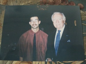 Walter Cronkite and I at the Arizona State University journalism banquet (the Walter Cronkite School of Journalism and Telecommunication) in the fall of 1997.