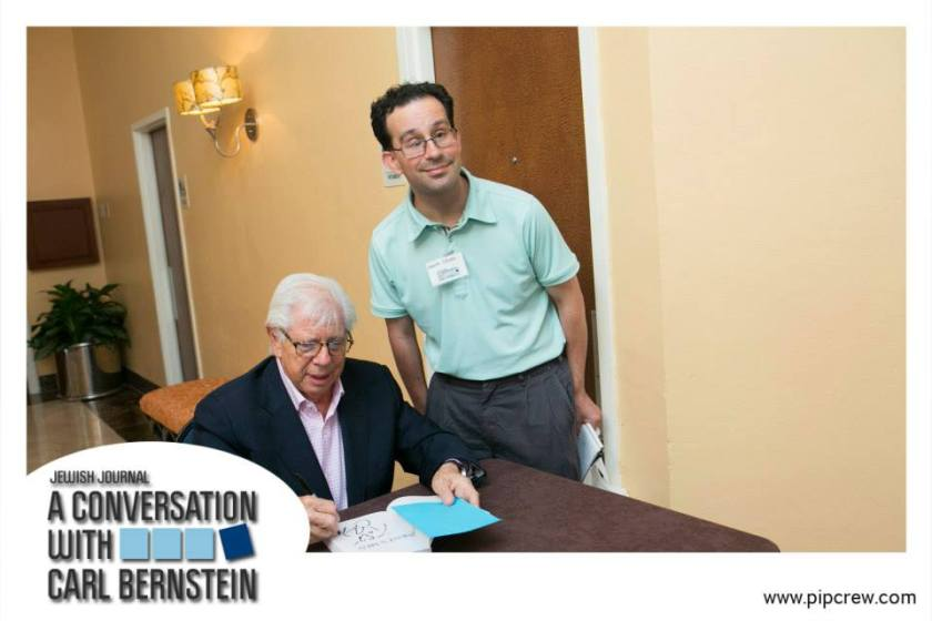 """Carl Bernstein signs a copy of """"All The President's Men"""" for me at a South Florida event in September 2013."""