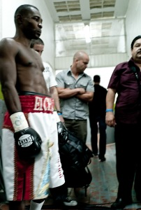In Tijuana, Mexico, Brin-Jonathan Butler (center) with fighter Guillermo Rigondeaux.