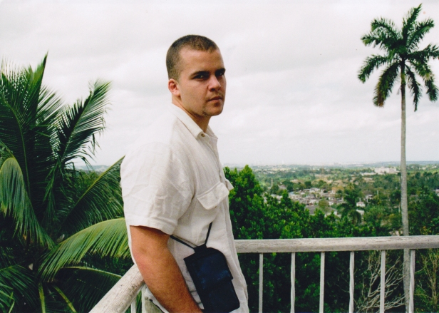 Brin-Jonathan Butler near Ernest Hemingway's house in Cuba, circa 2000.
