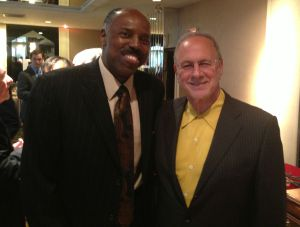 Peter Vecsey and Al Skinner, former NBA and ABA player and longtime college coach