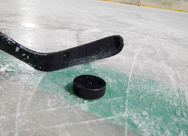 Ice hockey stick and puck 20181220